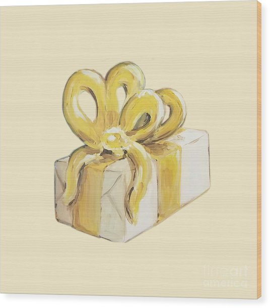Yellow Present Wood Print