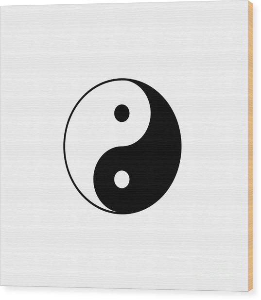 Yin And Yang Wood Print