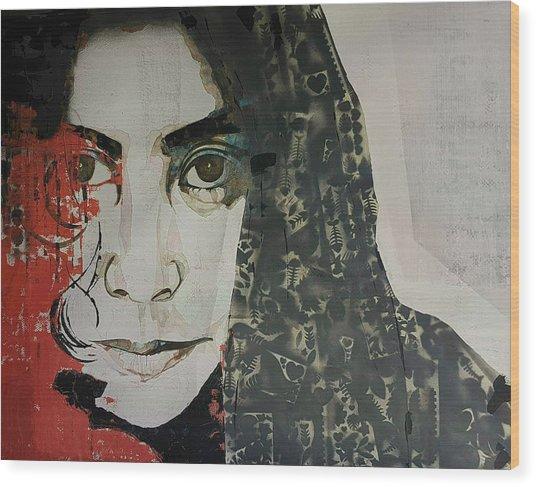 Yoko Ono Wood Print
