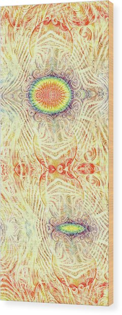 Yonic Rainbow Wood Print