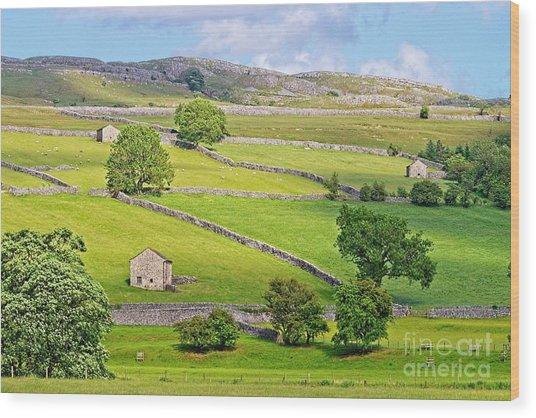 Yorkshire Dales Wood Print
