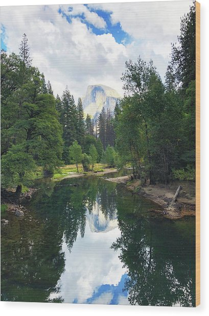 Yosemite Classical View Wood Print