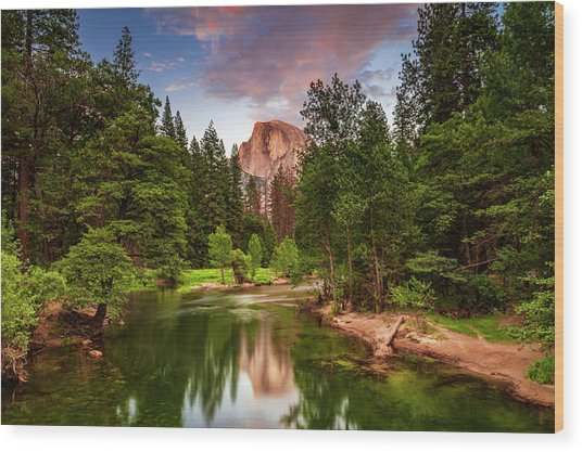 Yosemite Sunset - Single Image Wood Print