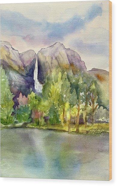 Yosemite Waterfalls Wood Print