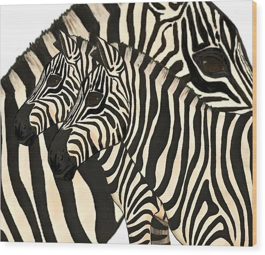 Z Is For Zebras Wood Print