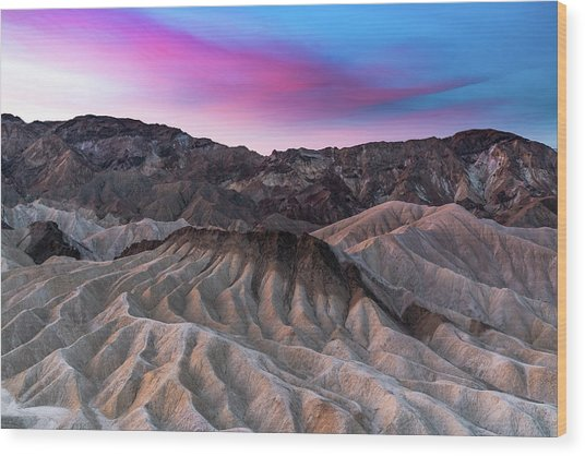 Zabriskie Sunrise Wood Print