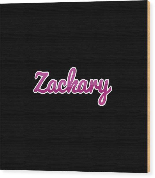 Zackary #zackary Wood Print