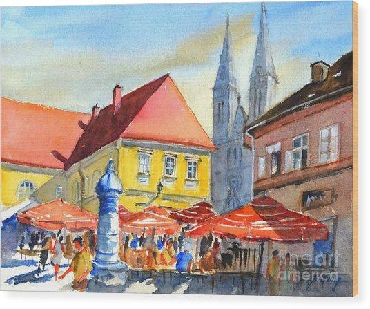 Zagreb Near Dolce Market Wood Print