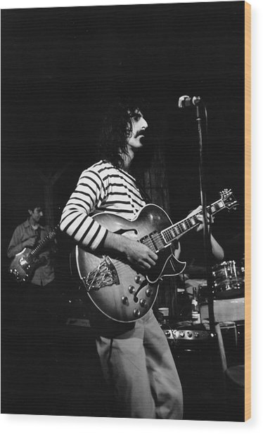 Zappa & The Mothers On Stage Wood Print by Fred W. McDarrah