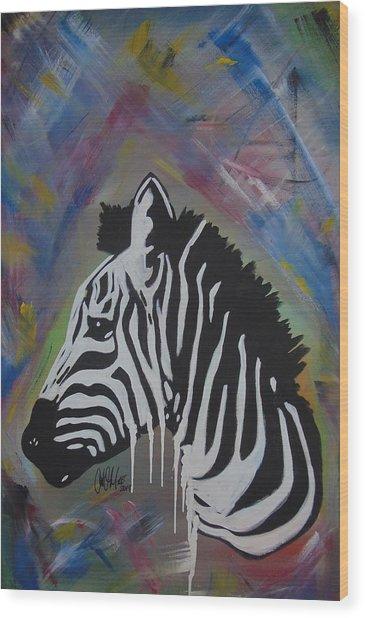 Zebra Drip Wood Print