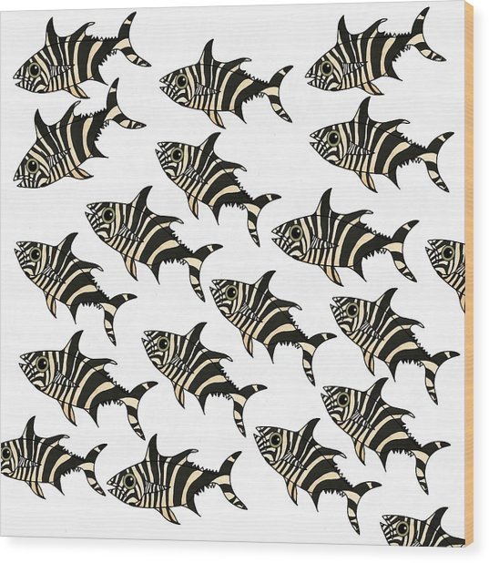 Zebra Fish 7 Wood Print