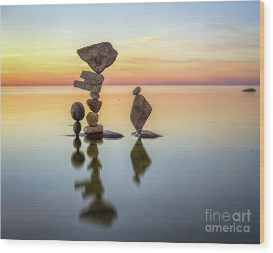 Zen Art Wood Print