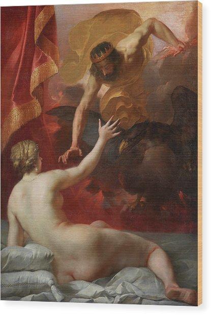 Zeus And Semele Wood Print