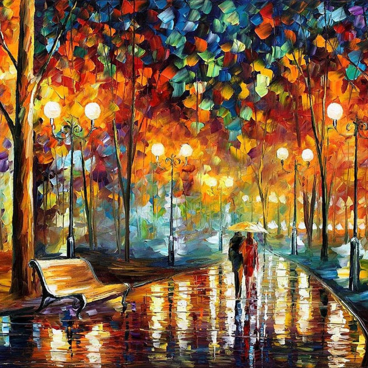Freshness of Cold — PALETTE KNIFE Oil Painting On Canvas
