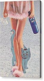 Spirit Cat Essence Mixed Media Acrylic Prints