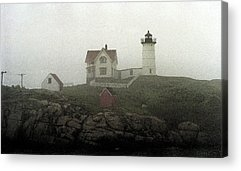 Cape Neddick Lighthouse Mixed Media Acrylic Prints