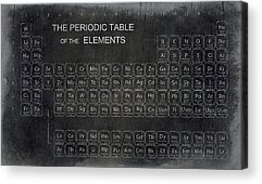 Periodic Table Of Elements Acrylic Prints
