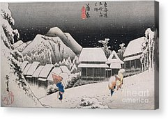Winter Night Paintings Acrylic Prints