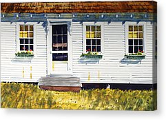 Maine Farms Paintings Acrylic Prints