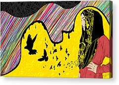Hijab Fashion Abstraction De Dina Acrylic Prints