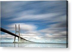 Vasco Da Gama Bridge Acrylic Prints