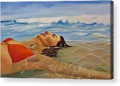 Laguna Beach Paintings Acrylic Prints