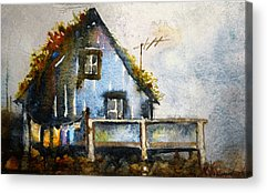 Thatched Roof Paintings Acrylic Prints