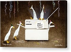 Copy Machine Paintings Acrylic Prints