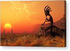 Southwest Digital Art Acrylic Prints