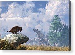 Rhinocerus Digital Art Acrylic Prints