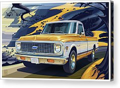 Truck Digital Art Acrylic Prints