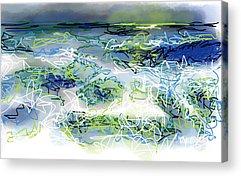 Turbulent Skies Drawings Acrylic Prints