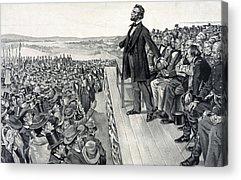 Civil War Site Drawings Acrylic Prints