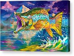 Largemouth Digital Art Acrylic Prints