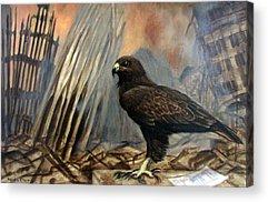 Hawk As War Symbol Acrylic Prints