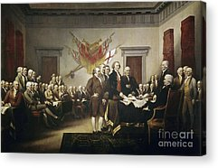 Declaration Of Independence Acrylic Prints