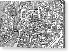 Old Town Drawings Acrylic Prints
