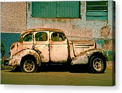 Rusted Cars Acrylic Prints