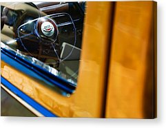Old Woody Station Wagon Acrylic Prints