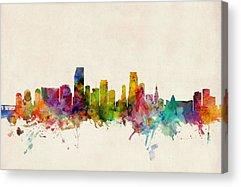 Miami Skyline Acrylic Prints