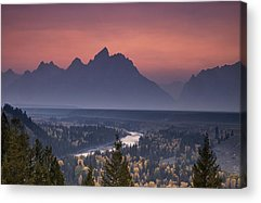 Pastel Mountains Acrylic Prints