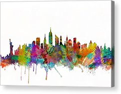 New York State Acrylic Prints