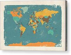 Cartography Acrylic Prints