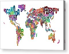 Word Map Acrylic Prints