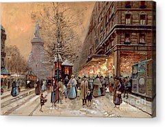 Winter Light Paintings Acrylic Prints