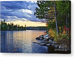 Beautiful Fall Sunset Photographs Acrylic Prints
