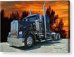 Semi Truck Acrylic Prints