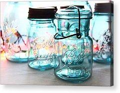 Mason Jars Acrylic Prints