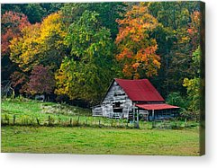 Old Barns Acrylic Prints