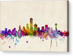 Dallas Skyline Acrylic Prints